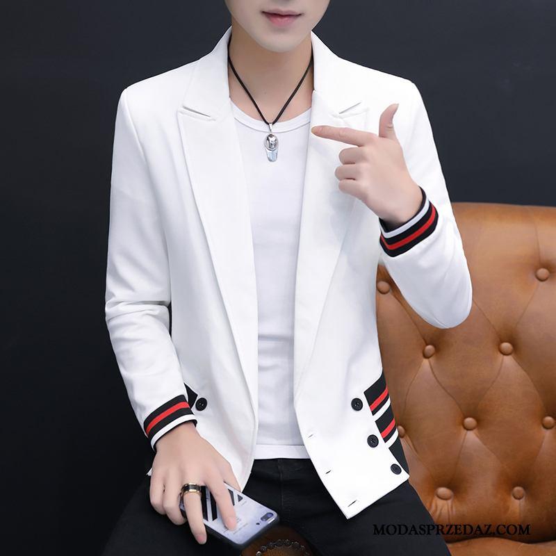 Blazer Męskie Online Modna Marka Tendencja 2019 Topy Slim Fit Biały