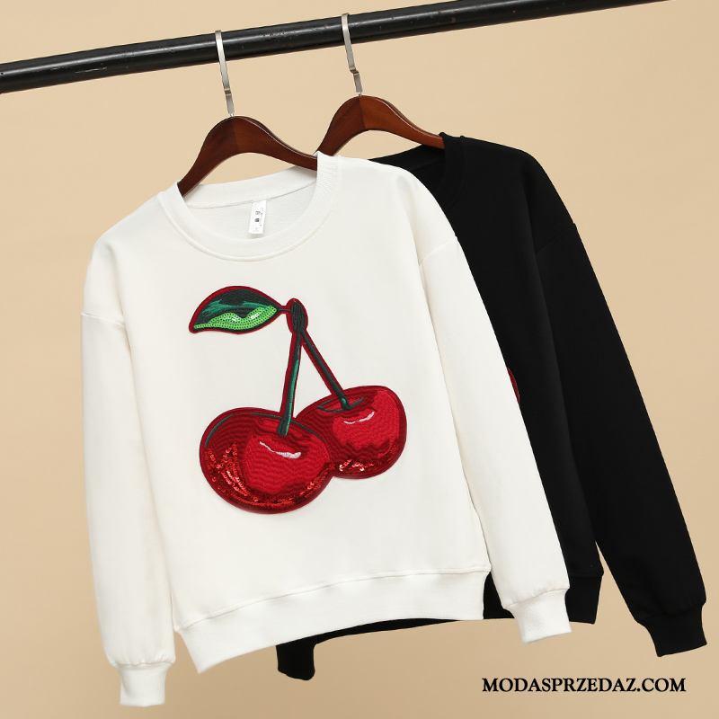 Bluza Z Kapturem Damskie Na Sprzedaż Wiosna Płaszcz Pullover Szerokie Super Biały