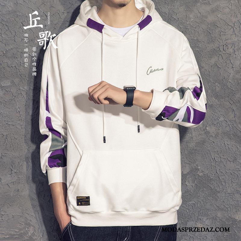 Bluza Z Kapturem Męskie Kup Pullover Płaszcz Szycie Bluzy Z Kapturem Tendencja Biały