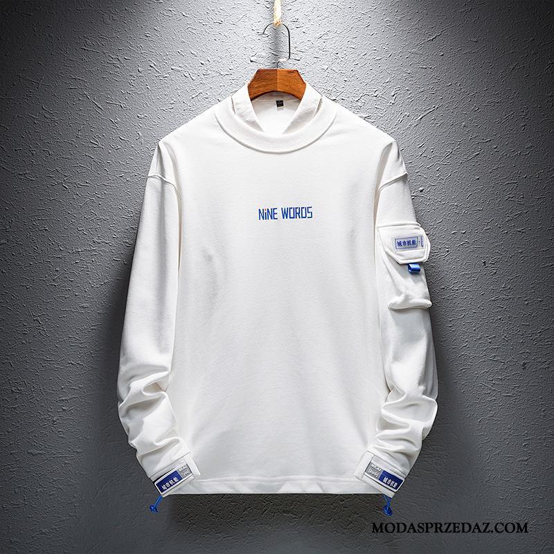Bluza Z Kapturem Męskie Kup Topy Student Piękny Pullover Podkoszulek Biały