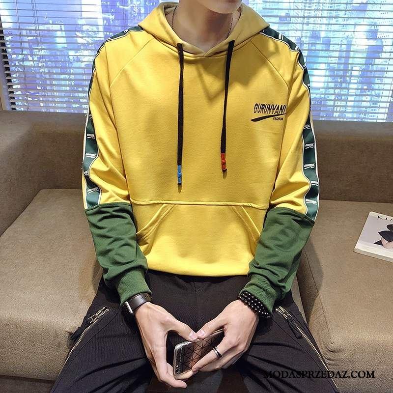 Bluza Z Kapturem Męskie Na Sprzedaż Płaszcz Bluzy Z Kapturem Szerokie Tendencja Długi Rękaw Żółty