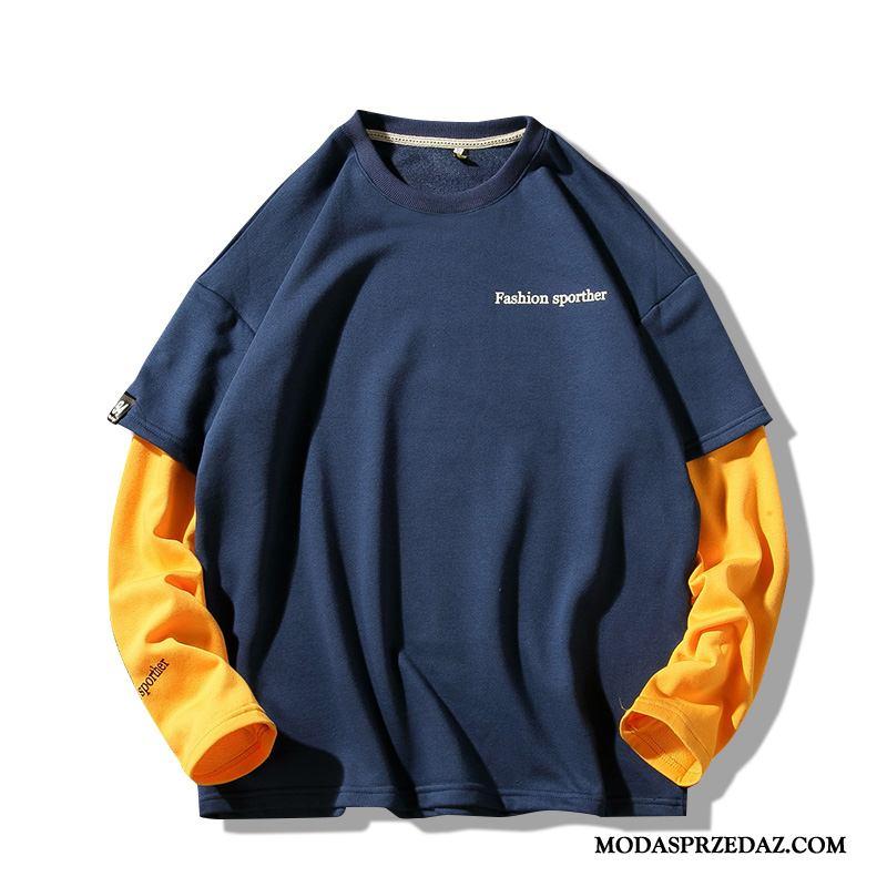 Bluza Z Kapturem Męskie Oferta Tendencja Nowy Bluzy Z Kapturem Długi Rękaw Męska Niebieski