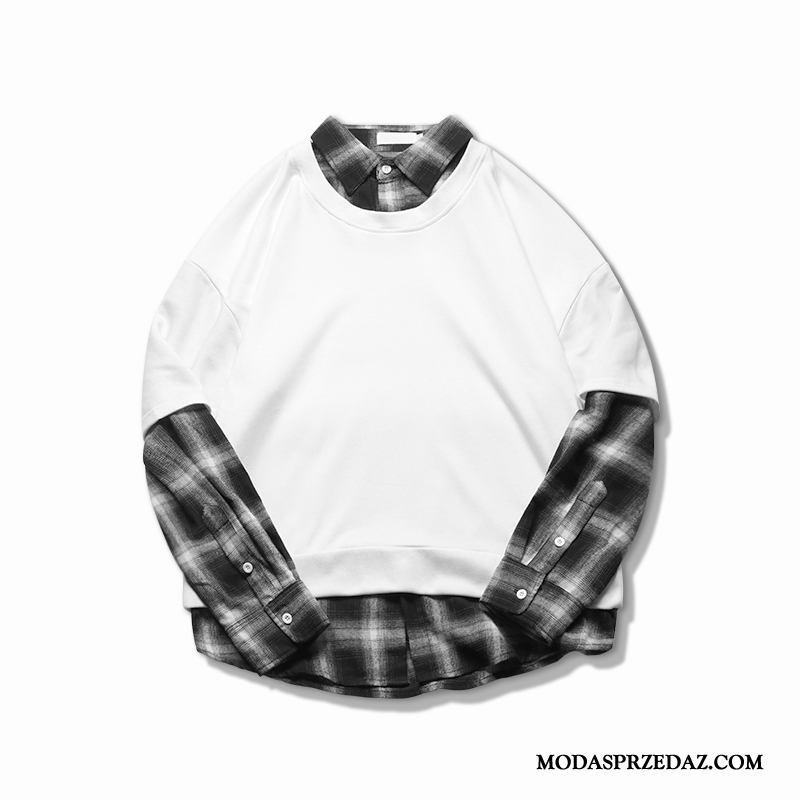 Bluza Z Kapturem Męskie Online Tendencja Pullover Męska Szerokie Bluzy Z Kapturem Biały