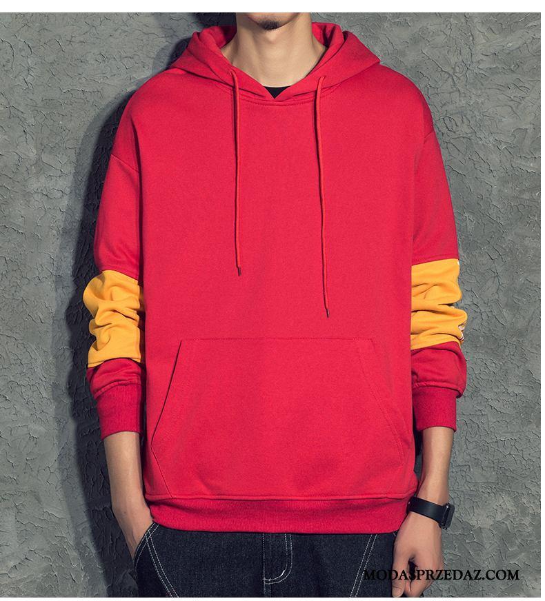 Bluza Z Kapturem Męskie Sklep Tendencja Bluzy Z Kapturem Szerokie Piękny Męska Czerwony