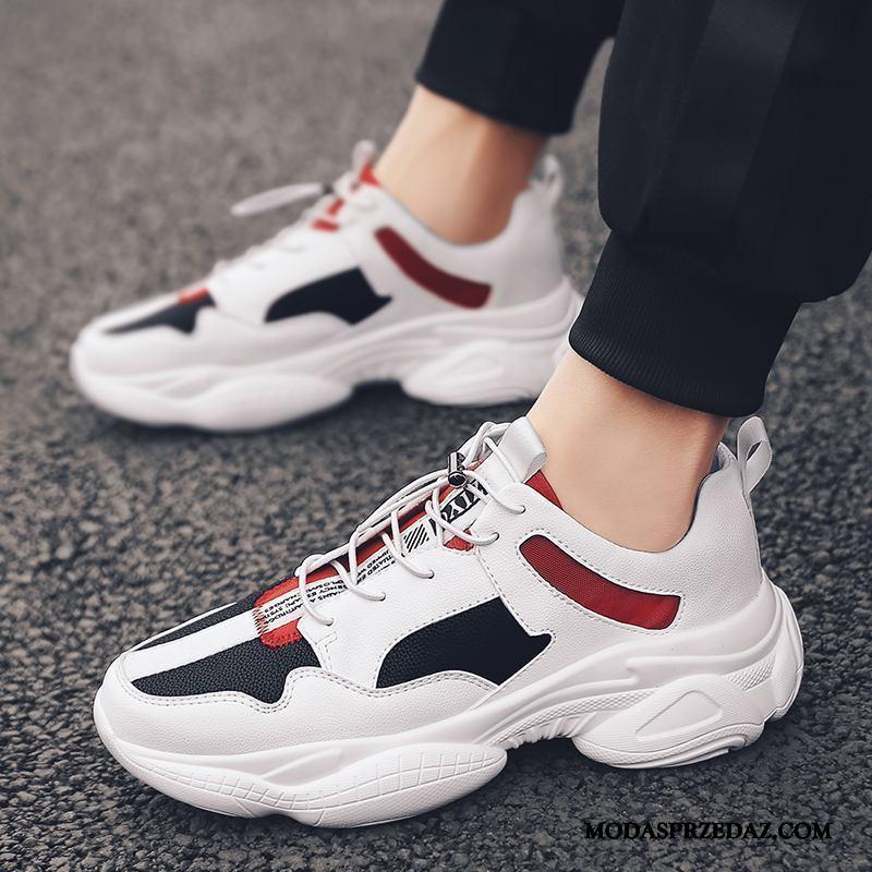 Buty Sportowe Męskie Online Wszystko Pasuje Moda Casual Tendencja Wiosna Biały Czerwony