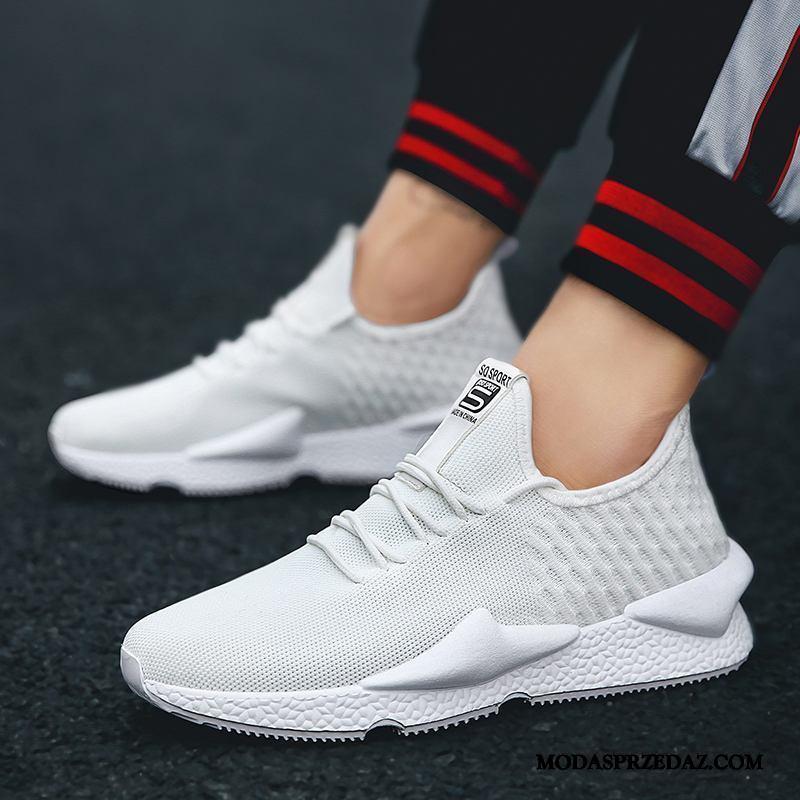 Buty Sportowe Męskie Sklep Buty Do Biegania Wiosna Młodzieżowa Oddychające Casual Biały
