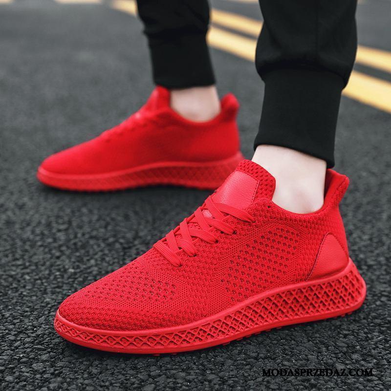 Buty Sportowe Męskie Tanie 2019 Casual Canvas Buty Na Deskorolke Tendencja Czerwony