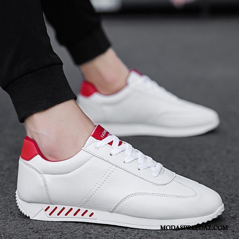 Buty Sportowe Męskie Tanie Casual Wszystko Pasuje Wiosna 2019 Tendencja Biały Czerwony
