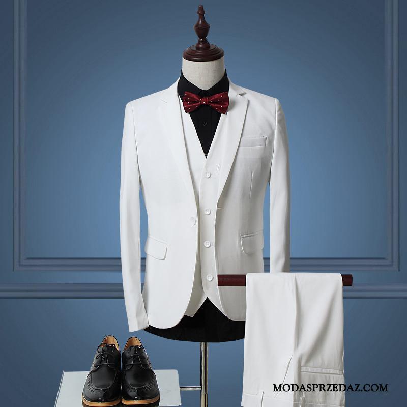 Garnitur Męskie Na Sprzedaż Biznes Ślubna Pasować Męska Casual Biały