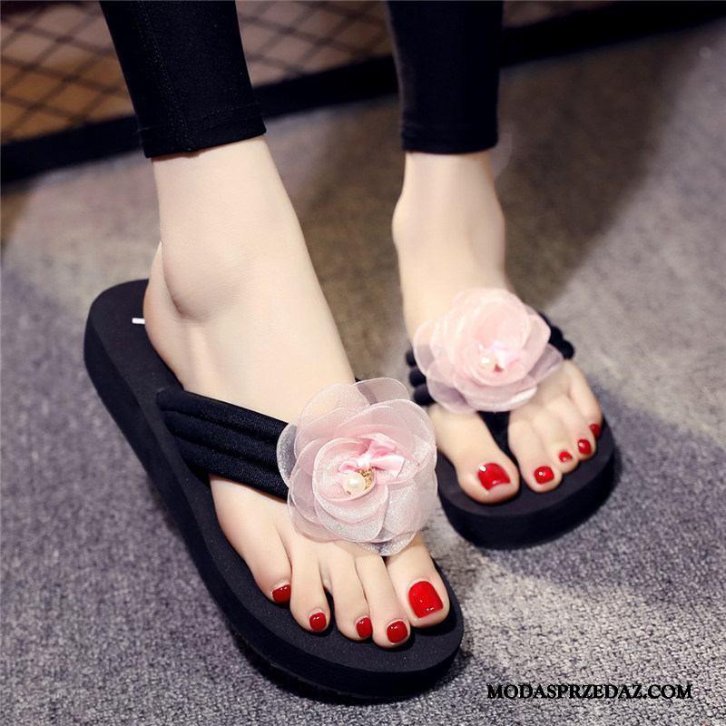 Japonki Damskie Na Sprzedaż Wysokie Obcasy Wedge Moda Plażowe Damska Proszek