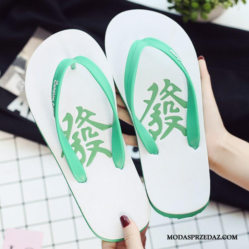 Japonki Męskie Oferta Lato Student 2019 Plażowe Osobowość Zielony