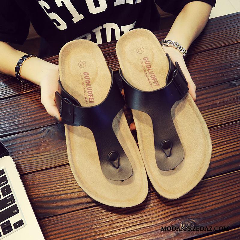 Japonki Męskie Sprzedam Plażowe Odzież Wierzchnia Lato Duży Rozmiar Buty Czarny