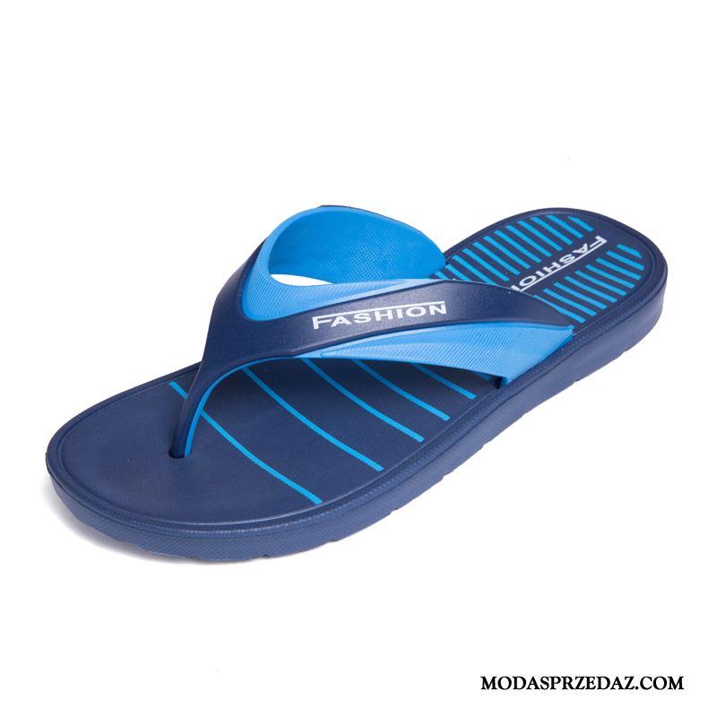 Japonki Męskie Tanie Buty Wodoodporny Tendencja Plażowe Lato Niebieski