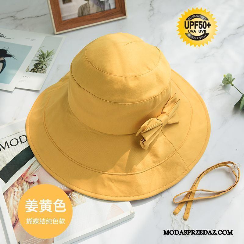 Kapelusz Damskie Sprzedam Ochrona Przed Słońcem Podróż Damska Lato Outdoor Fioletowy Żółty