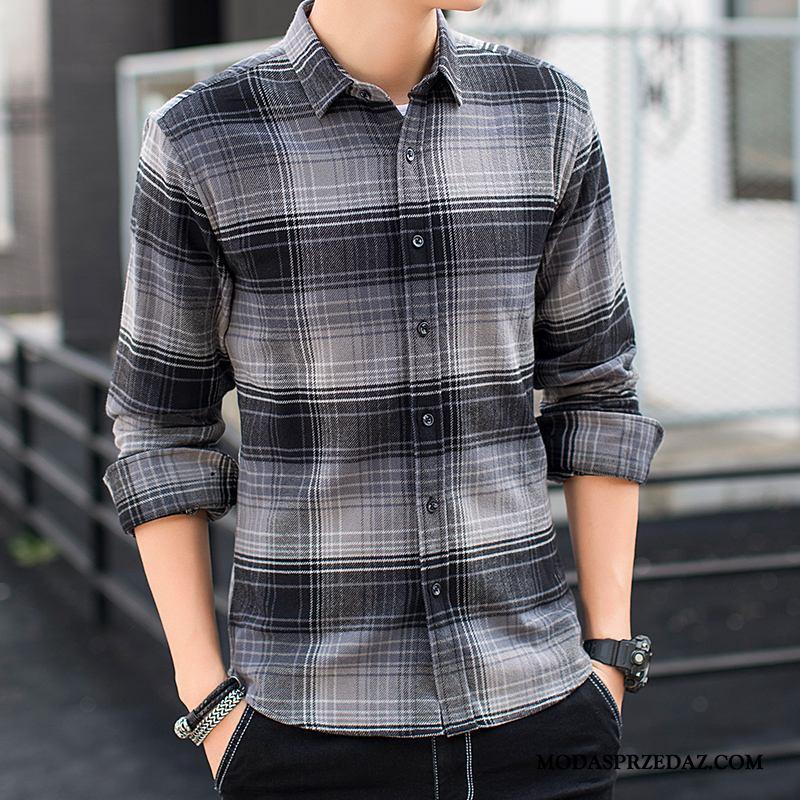 Koszula Męskie Kup Slim Fit Długi Rękaw Męska Bawełna Mały