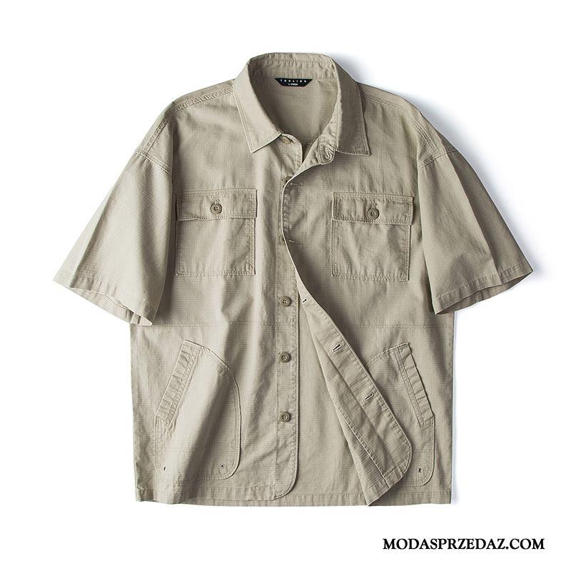 Koszula Męskie Kup Tendencja Jesień Vintage Wiosna Cargo Khaki