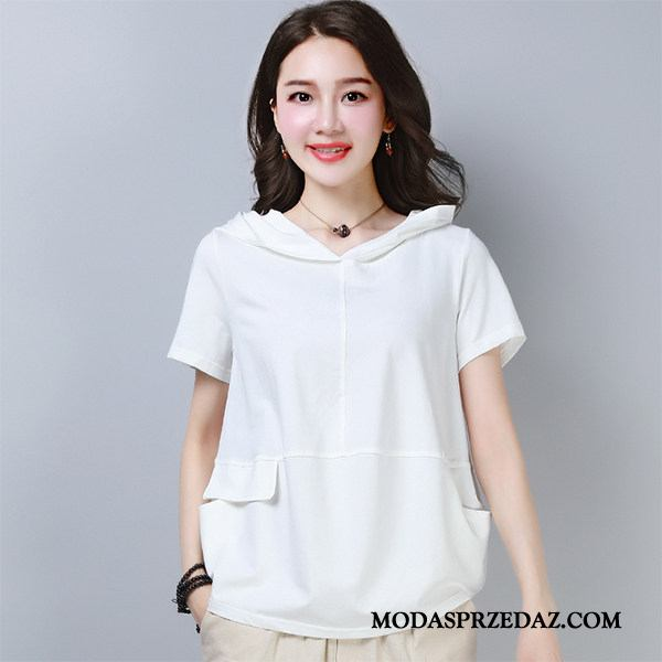 Koszulki Damskie Sprzedam Krótki Rękaw 2019 Mały Nowy T-shirt Czysta Biały