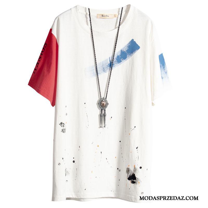 Koszulki Męskie Kup T-shirt Lato Męska Nastolatek Student Biały
