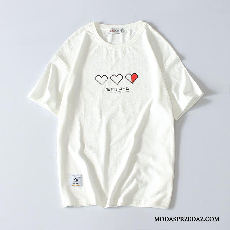Koszulki Męskie Na Sprzedaż Młodzież Miłość Krótki Rękaw Drukowana Lato Biały