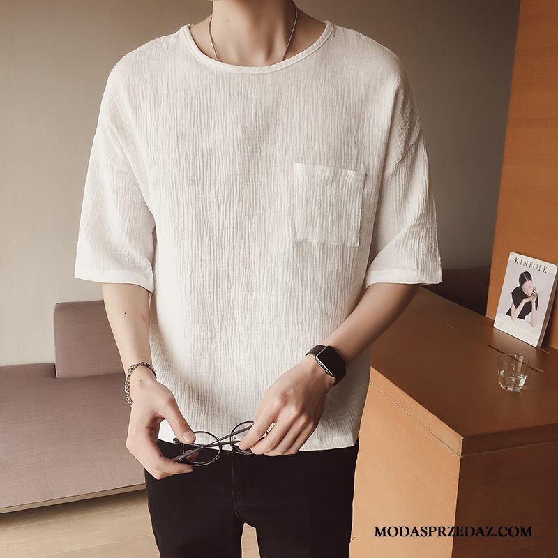 Koszulki Męskie Sprzedam Modna Marka Krótki Rękaw Tendencja Męska Rękawy Biały