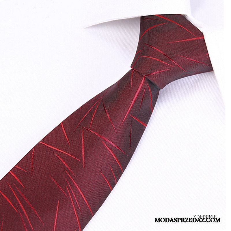 Krawat Męskie Dyskont Ślubna Trendy Męska Koszula Mały Czarny Czerwony