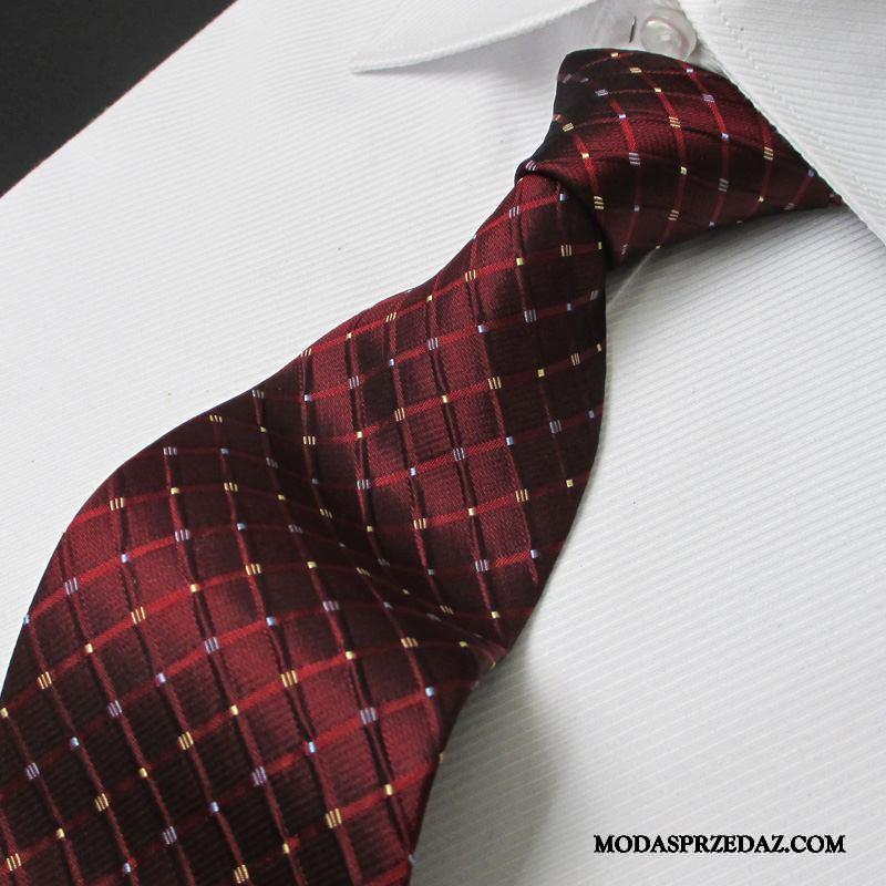 Krawat Męskie Kup Biznes Zamek Ślubna Męska Sukienka Niebieski Czerwony