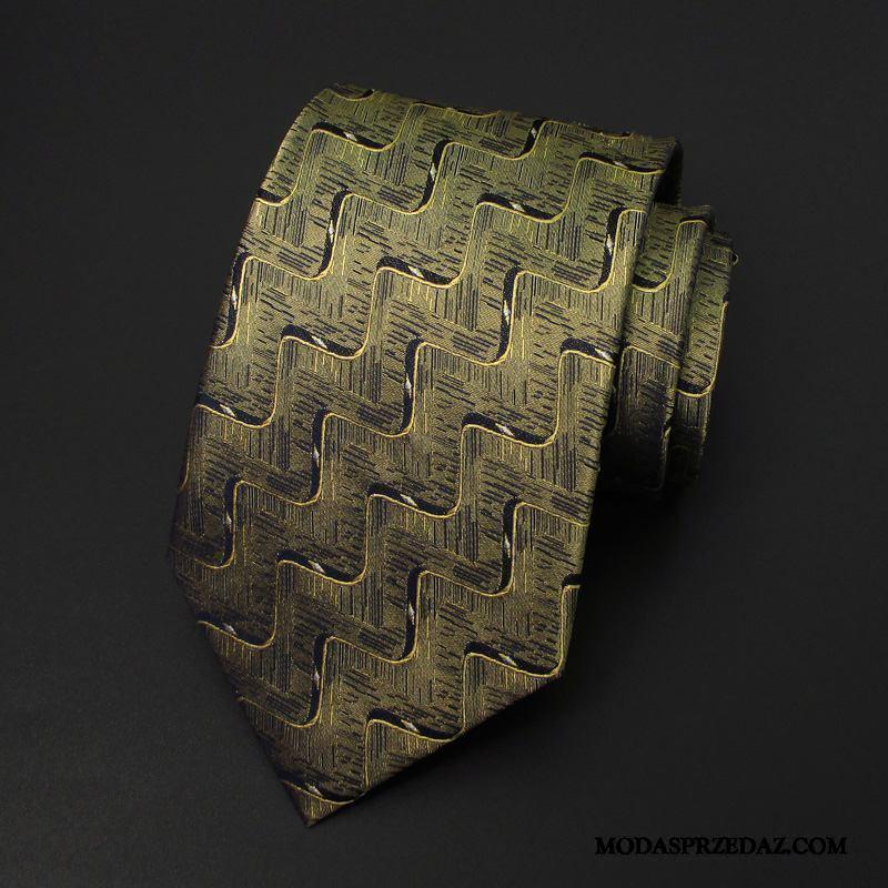 Krawat Męskie Na Sprzedaż Jedwab Leniwy Sukienka Męska Pan Młody Złoty
