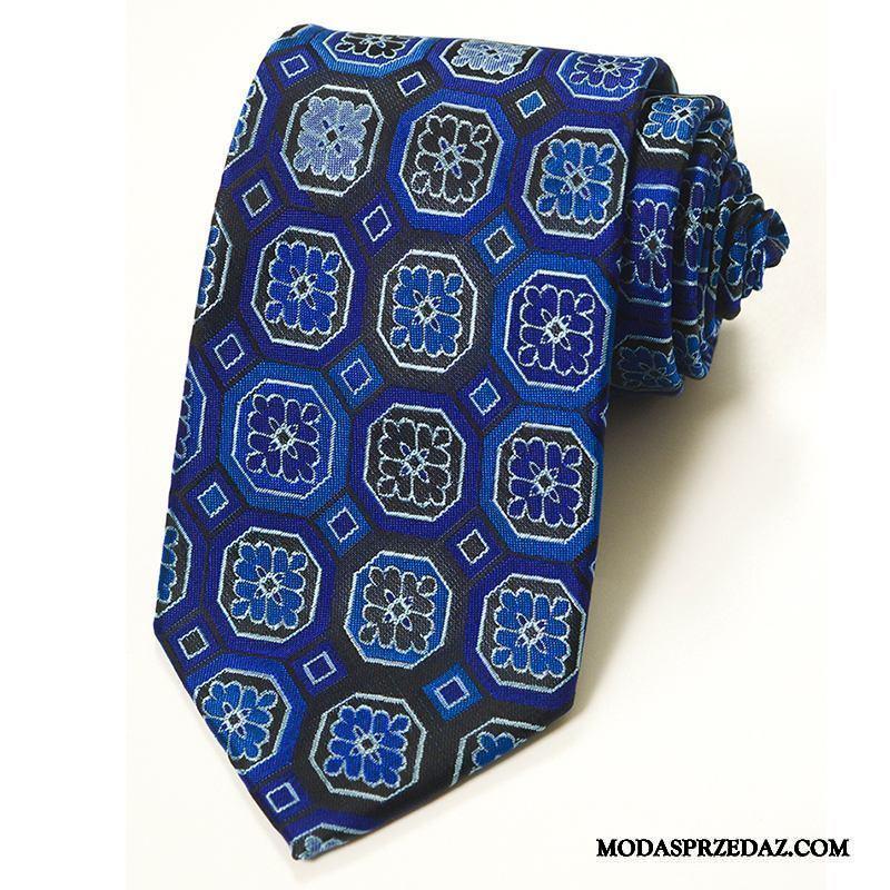 Krawat Męskie Online Ślubna Nowy Krata Młodzież Męska Niebieski