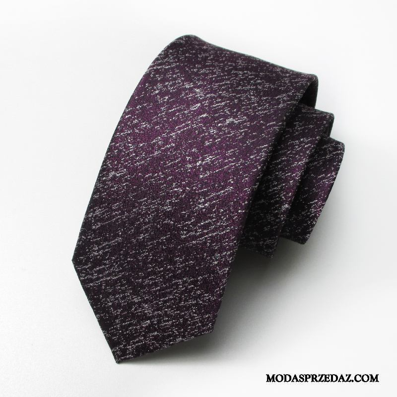 Krawat Męskie Online Biznes Zamek Ślubna Moda Sukienka Fioletowy Czerwony