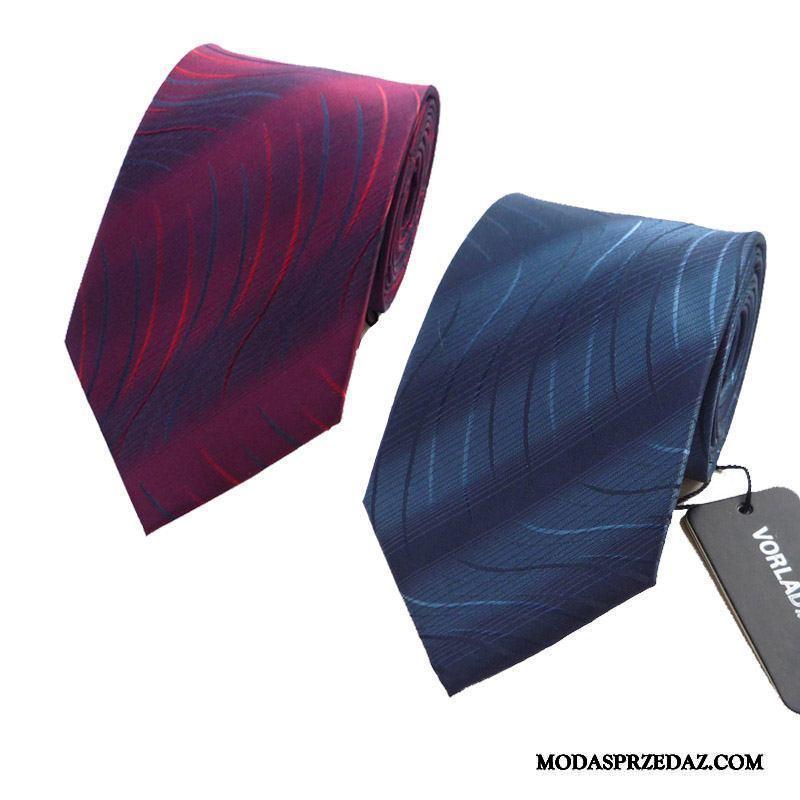 Krawat Męskie Sklep Ślubna Biznes Sukienka Casual Męska Burgund Beżowy Niebieski Czerwony