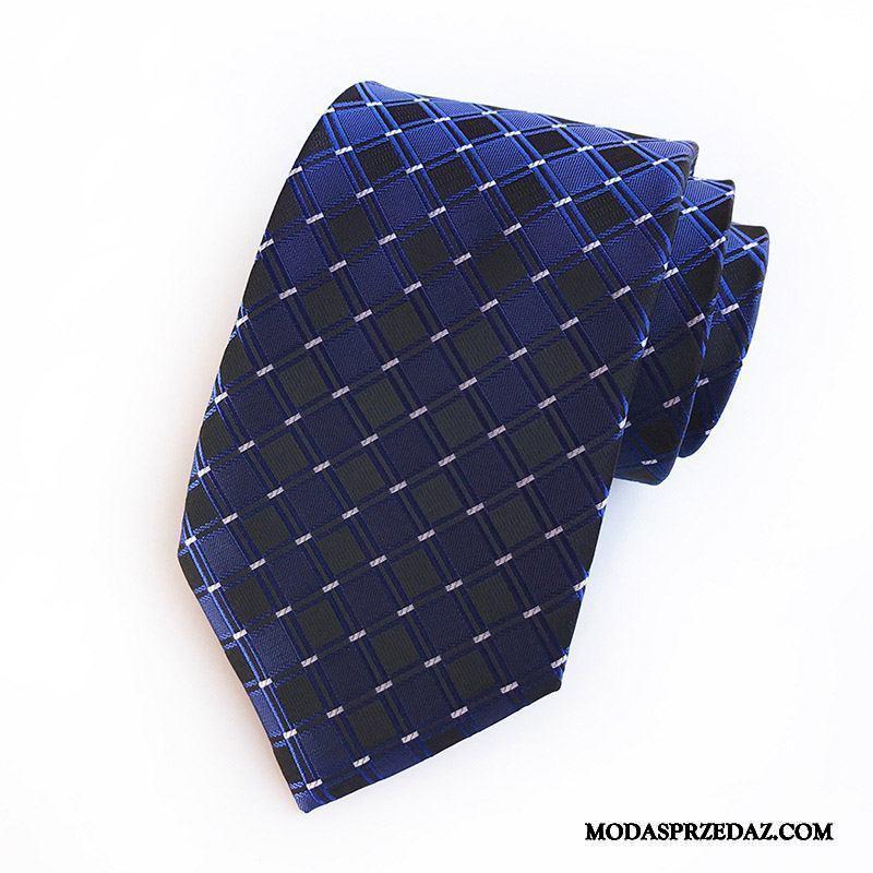 Krawat Męskie Sklep Krata Personel Biznes W Paski Męska Niebieski