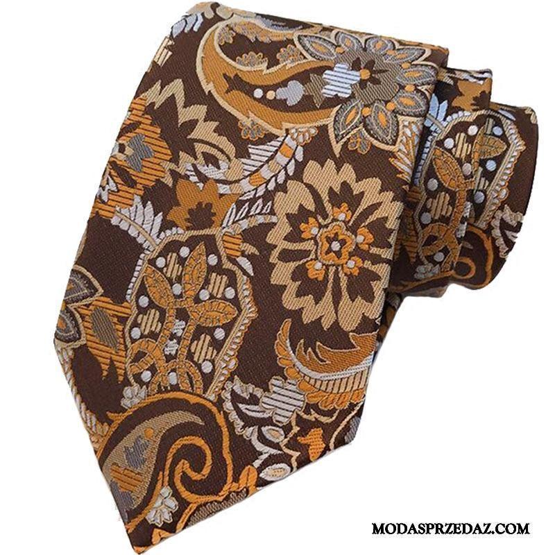 Krawat Męskie Sklep Sukienka Nowy Brytyjski Wysoki Koniec Trendy Kawowy