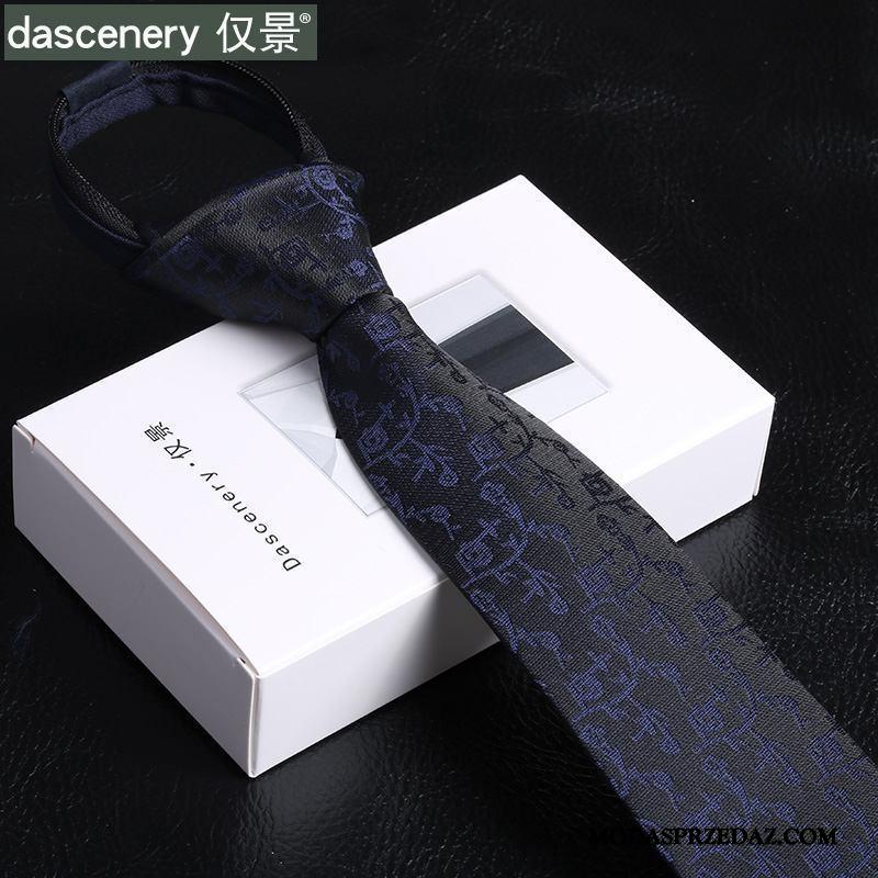 Krawat Męskie Sprzedam Męska 6 Cm Sukienka Wąskie Pan Młody Niebieski Czarny