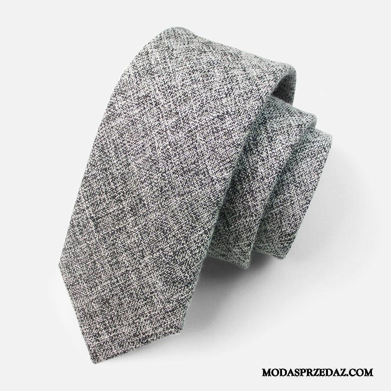 Krawat Męskie Sprzedam Moda Sukienka Biznes 6 Cm Pan Młody Szary