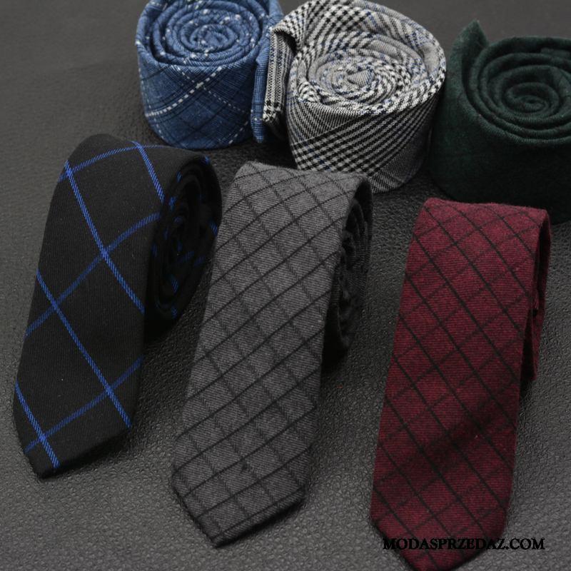 Krawat Męskie Tanie Męska Krata Sukienka Casual Trendy Szary