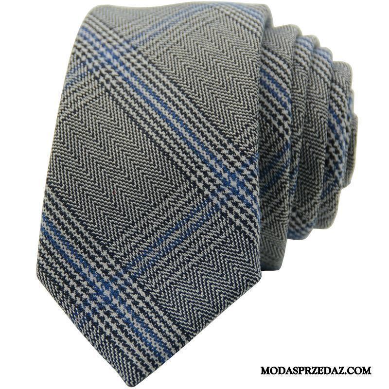 Krawat Męskie Tanie Męska Sukienka W Paski Biznes Casual Szary