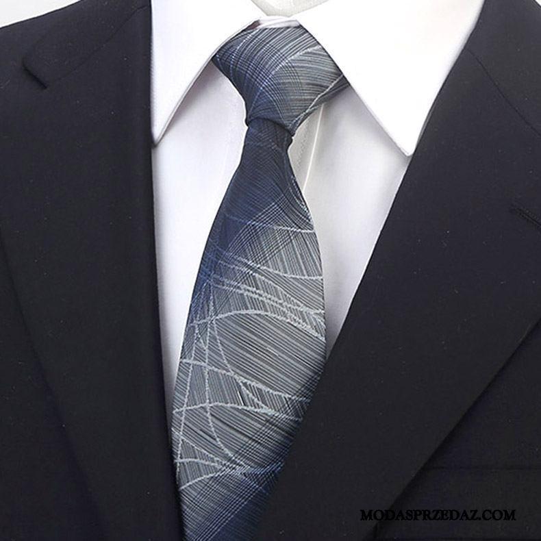 Krawat Męskie Tanie Sukienka Ślubna Bankiet Biznes Męska Fioletowy Szary