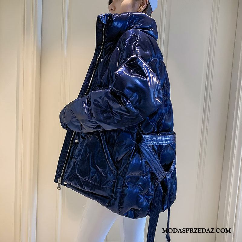 Kurtka Puchowa Damskie Sprzedam Nowy Tendencja Odzież Zimowa Cekiny Moda Niebieski