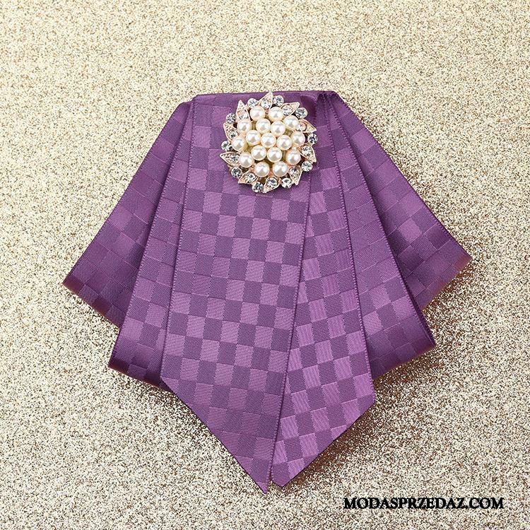 Muszka Damskie Na Sprzedaż Damska Koszula Sukienka Z Pracy Akcesoria Srebrny Fioletowy