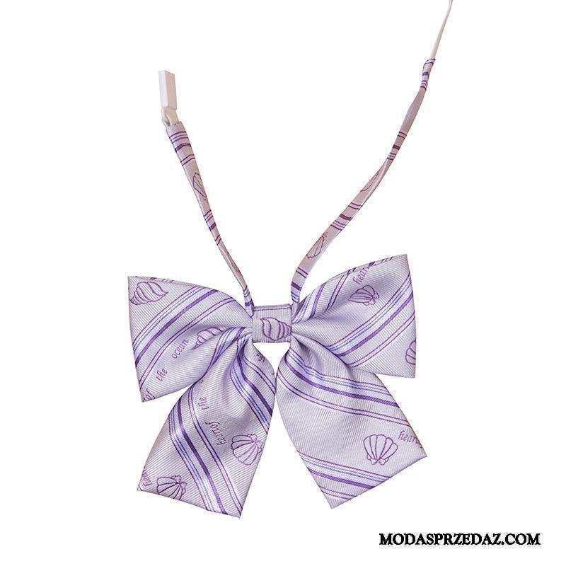 Muszka Damskie Sprzedam Oryginalny Krawat Serce Koszula Mundury Fioletowy