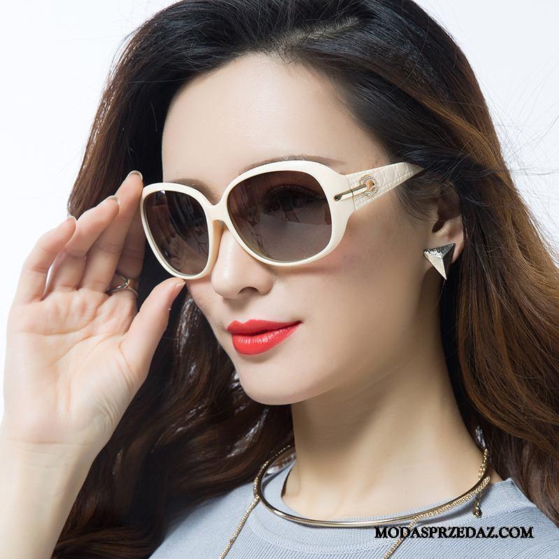 Okulary Przeciwsłoneczne Damskie Kup Polaryzator Moda Nowy Trendy Damska Fioletowy Biały