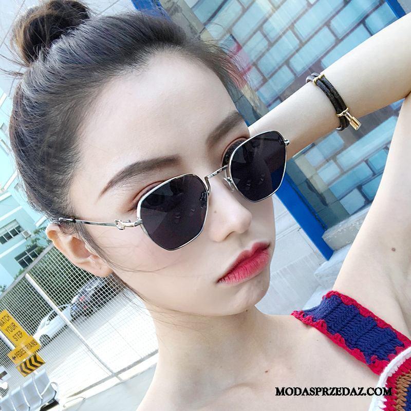 Okulary Przeciwsłoneczne Damskie Kupię Siatkowe Osobowość Damska Słońce Trendy Czarny Czerwony