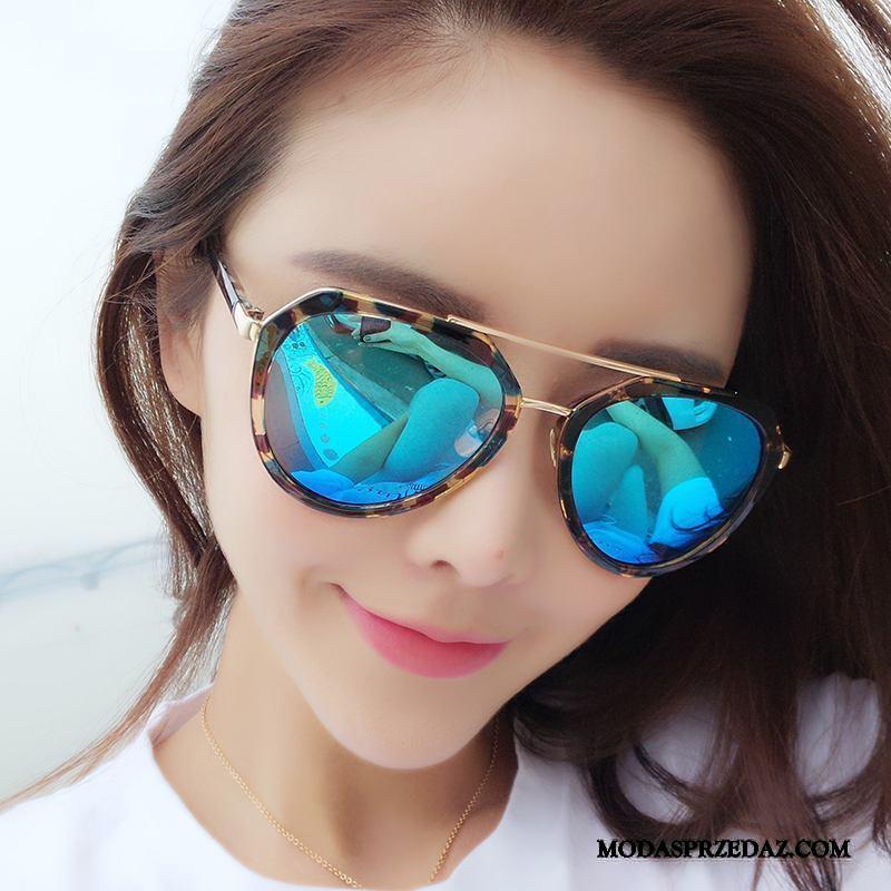 Okulary Przeciwsłoneczne Damskie Na Sprzedaż Polaryzator Trendy Moda Nowy Wielki Niebieski