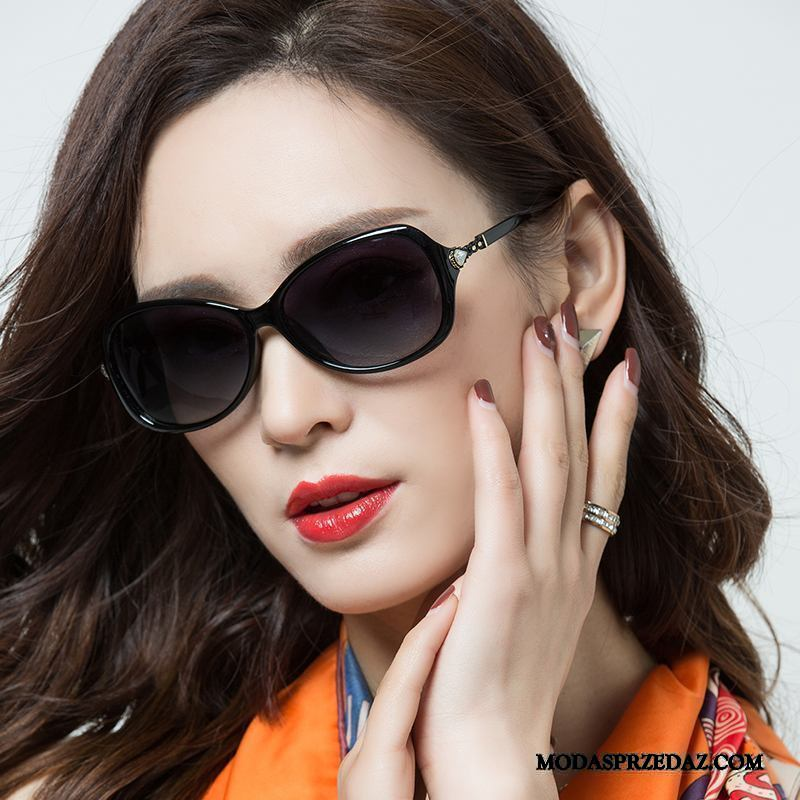 Okulary Przeciwsłoneczne Damskie Na Sprzedaż Trendy Polaryzator Damska Nowy Eleganckie Fioletowy Czarny