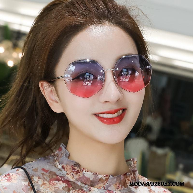 Okulary Przeciwsłoneczne Damskie Online Plażowe Vintage Nowy Damska Wielki Czerwony