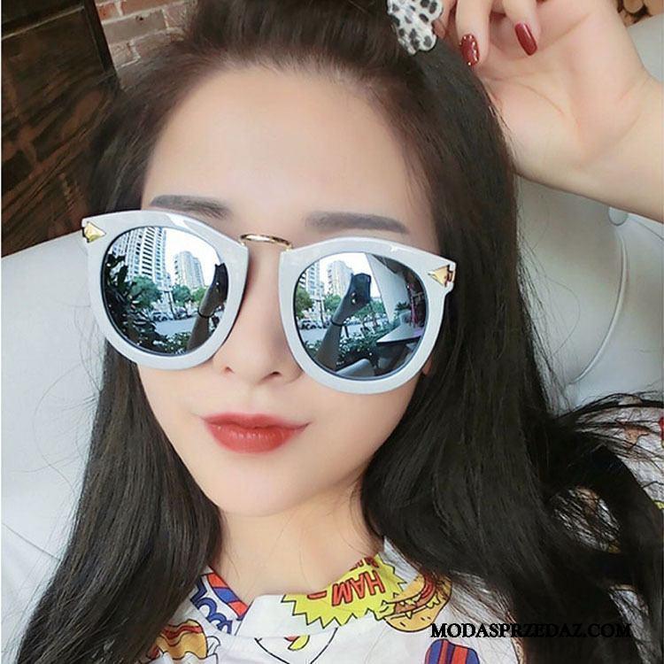 Okulary Przeciwsłoneczne Damskie Sklep Długie 2019 Siatkowe Trendy Damska Fioletowy Biały Czerwony