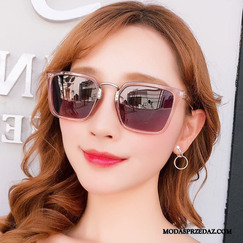 Okulary Przeciwsłoneczne Damskie Sklep Ochrona Przed Słońcem Długie Vintage 2019 Polaryzator Fioletowy Proszek