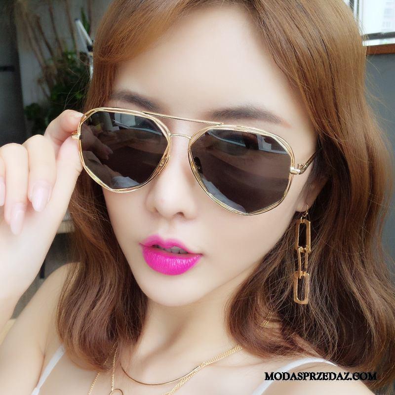 Okulary Przeciwsłoneczne Damskie Tanie Długie Trendy Moda Nowy Damska Czarny