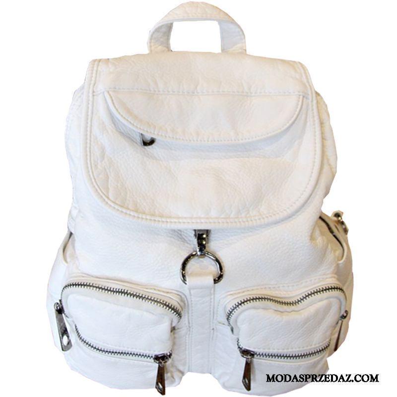 Plecak Damskie Sprzedam Trendy Podróż Damska Nowe Zima Biały