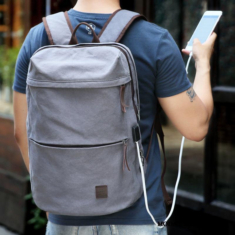 Plecak Męskie Online Podróż Casual Torba Na Komputer Student Biznes Szary